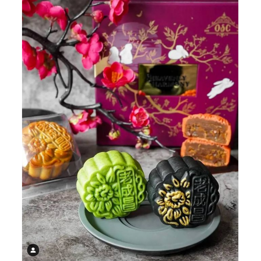 Delicate baked mooncake creations from Old Seng Choong.